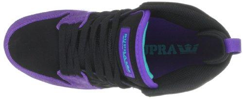 Supra S1W S72006 - Zapatillas de deporte de cuero nobuck unisex Negro