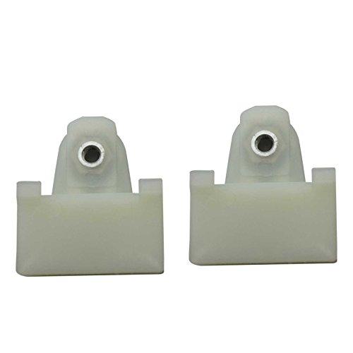 (Bross BWR5022FBA 2 Pieces Window Regulator Glass Channel Slider Sash Connector Clips for Pontiac Oldsmobile)