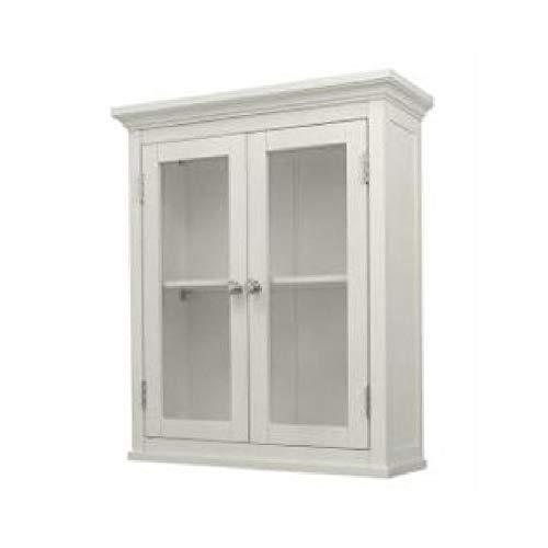 Classic 2 - Door Bathroom Wall Cabin et in White Fin ish, Classic 2-Door Bathroom Wall Cabinet in White Finish