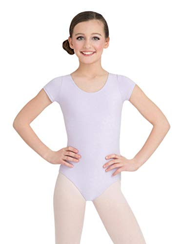 Capezio Little Girls' Classic Short Sleeve Leotard,Black,T