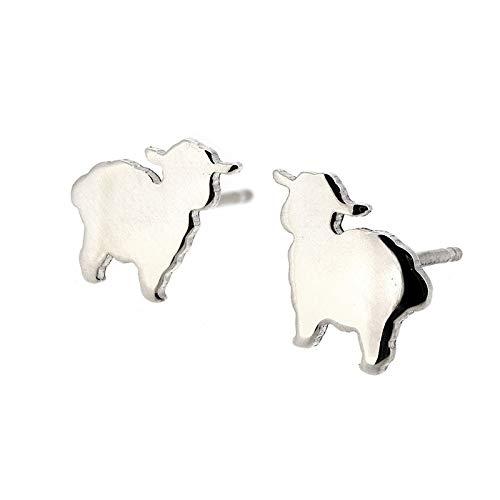 Lambie The Sheep Tibetan Silver Earrings Handmade