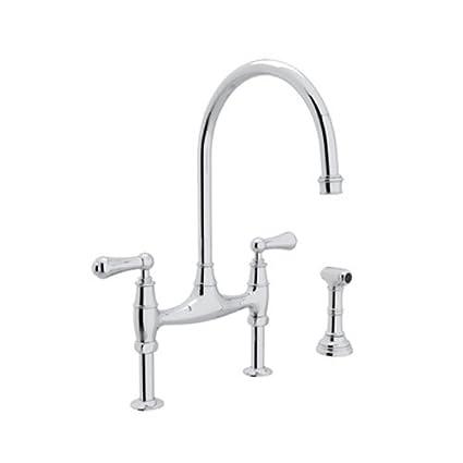 Rohl U.4719L APC 2 Perrin And Rowe Deck Mount Bridge Kitchen Faucet