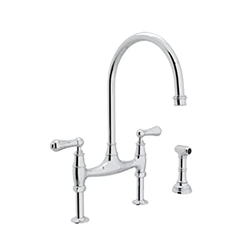 Rohl U.4719L APC 2 Perrin And Rowe Deck Mount Bridge Kitchen Faucet