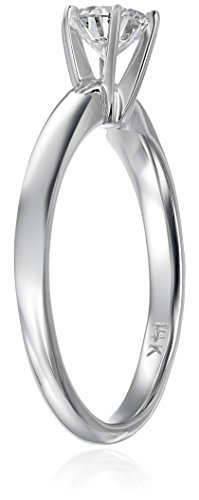 IGI Certified 14k White Gold Lab Created Diamond Solitaire Engagement Ring (1/2carat, G H Color, VS1 VS2 Clarity), Size 7