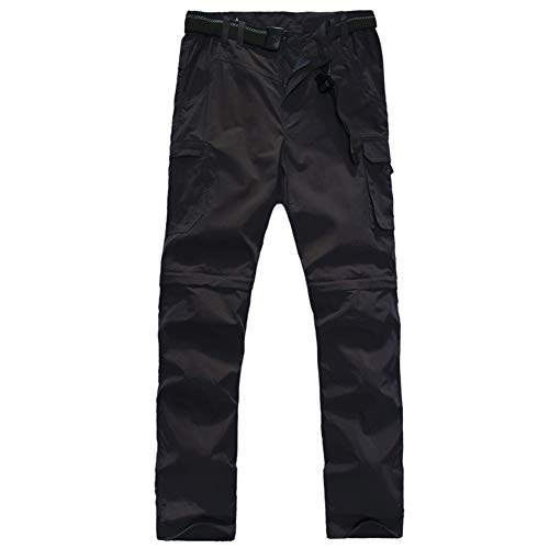 - FLYGAGA Boy's Quick Dry Outdoor Convertible Trail Pants Black