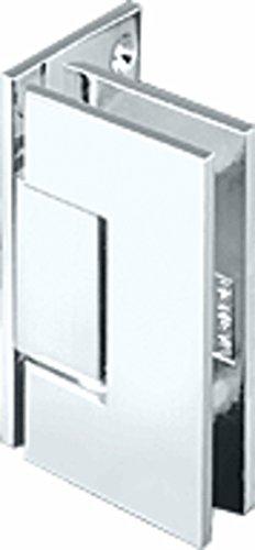CRL Junior Geneva 044 Series Chrome Wall Mount Offset Back Plate Hinge