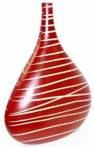 Rusty Red ~ Thai Pottery Vase by Decorative Vases