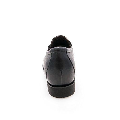 Zerimar Scarpe Sportive con elevatori Interni per Uomo Aumento di 6,5 cm Realizzata in Pelle di Alta Qualità nero