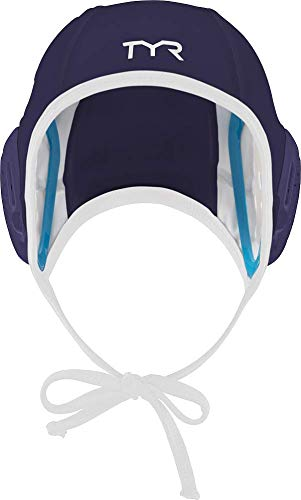 TYR Destroyer Water Polo Field Single Cap Navy//White 408LWDCAPFSALL