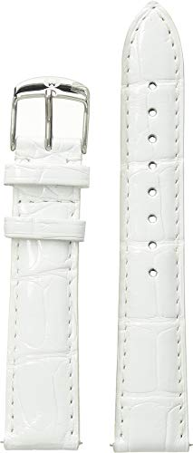 - Michele Women's 18mm Alligator Strap - MS18AA010 White One Size