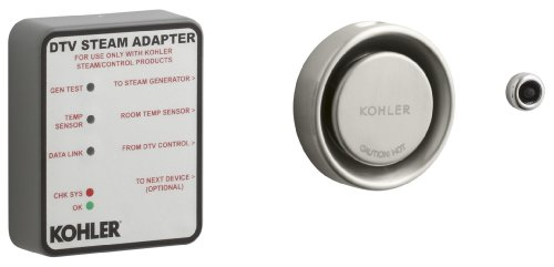 Kohler K-1737-BN Steam Adapter Kit, Vibrant Brushed Nickel