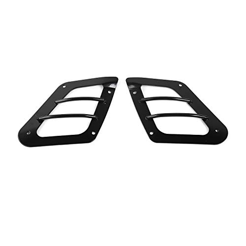 RT-TCZ Auto Exterior Front Bumper Side Turn Signal Light Guard Cover for 1997-2006 Jeep Wrangler TJ