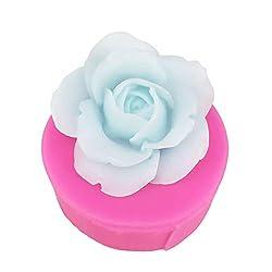 Freebily Novelty 3D Rose Flower Shape Silicone Mol