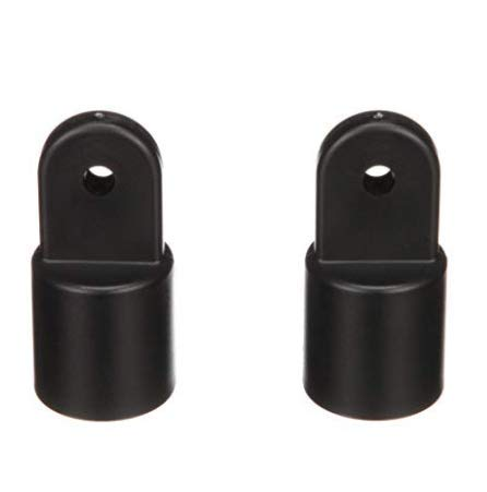 (Boat Fittings Top Cover Cap Eye End Nylon - Suitable for 7/8 inch Outer Diameter Tube (Black, 2 pcs))
