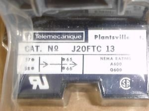 New Square D Telemecanique J20FTC13 Off Delay pneumatic timing unit .1-30 sec.
