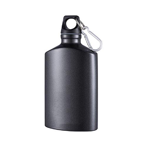 Aluminum Canteen Water Bottle, for Travel Camping Hiking Outdoor Recreation, with Hook Portable BPA Free, 18oz ()