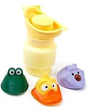 Toyvian 1 unid portátil inodoro de emergencia para orinal para niños y bebés para viajes en autocaravana (amarillo)