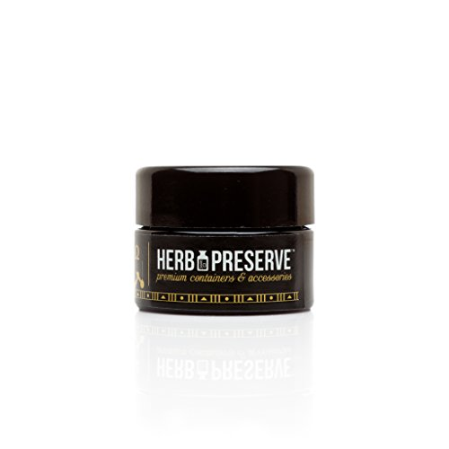 Herb Preserve Gram (15 Ml) Capacity Pocket Size Screwtop Jar Black Ultraviolet Refillable Glass Stash