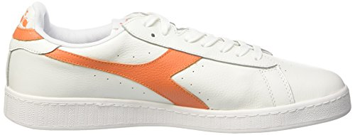 Diadora Unisex-erwachsene Game L Low Waxed Pumps, 36 Eu Multicolore (c5937 Bianco/arancio Tropicale)