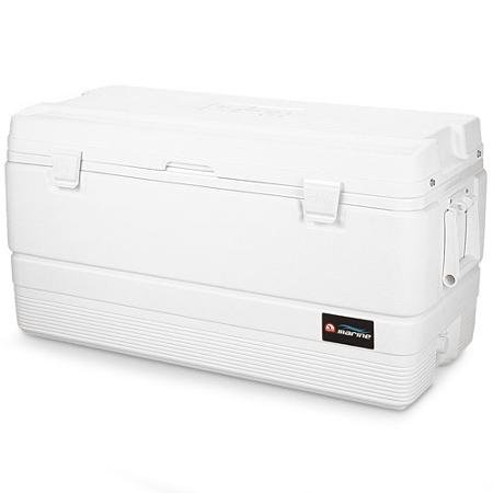 - Marine 94-quart Cooler with Fish Measuring Ruler Built Into Lid