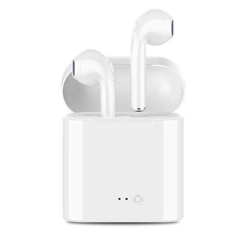 Wireless Headphones, Wireless Earbuds Stereo Hands-Free Calling Earphones Sport Driving Headsets with Charging Case for iPhone 8/8 plus/X/7/7 plus/6s/6S for Samsung Galaxy S9, S9 Plus for Android ()