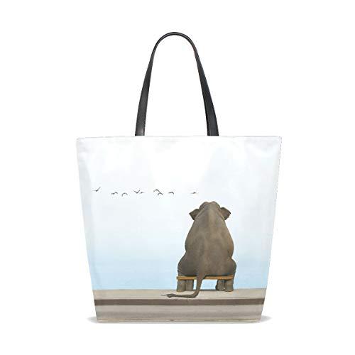 À 001 Cute Porter Animals Elephant Sac Sea Bennigiry Tote Taille L'épaule Unique Pour Femme vXxYqZwU5