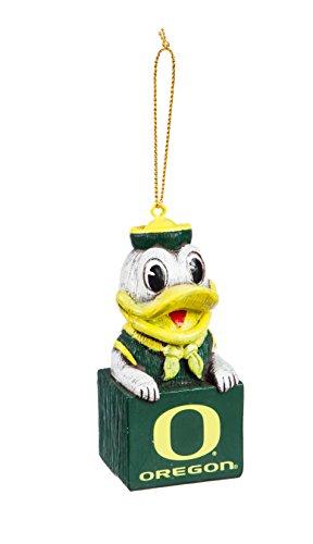 Oregon Ducks Santa - Team Sports America Oregon Team Mascot Ornament
