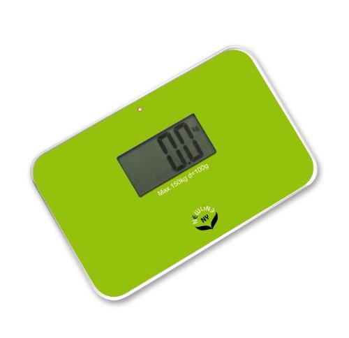 NewlineNY Lightest Step On Super Mini Travel Bathroom Scale, SBB0638SM-GN Green