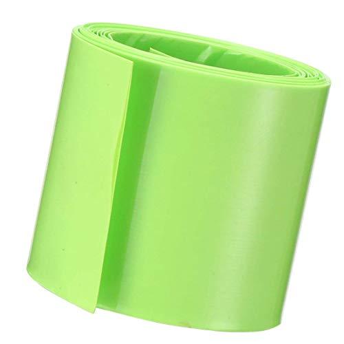 (Socell 3.5M/11.4Ft PVC Heat Shrink Tubing Wrap for 2 x 18650 Battery Shrink Sleeve Insulation casing Heat Shrink (105mm Width Light Green))