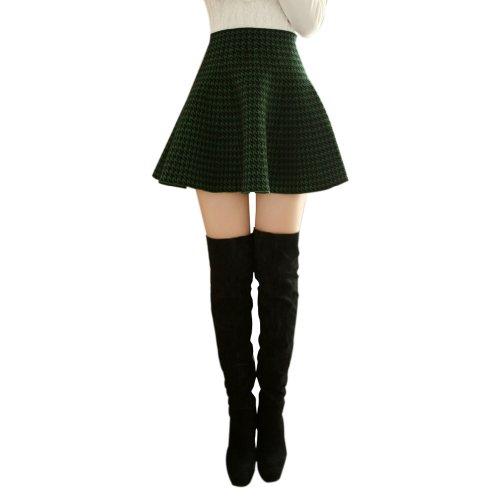 TopTie Black Plaid Schoolgirl Skater Skirt XS-Style2