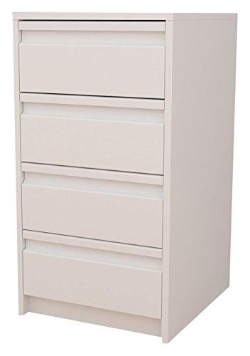Meka-Block K-7400B - Schubladenschrank-Kit, 4 Schubladen, 40 cm breit, Farbe: weiß.