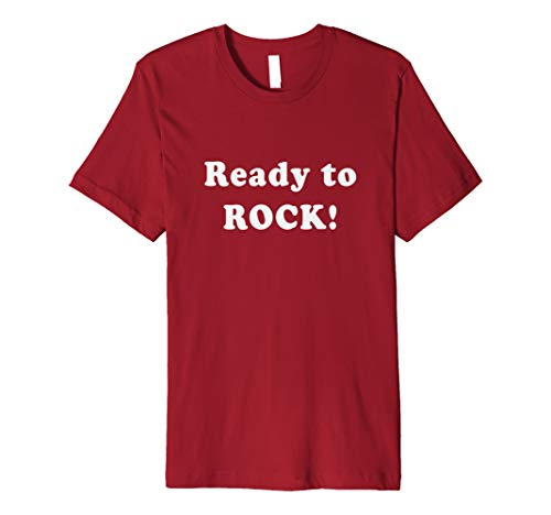 Ready to ROCK Simple Text One Word Quote Shirt