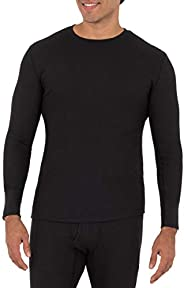 Fruit of the Loom Mens Recycled Waffle Thermal Underwear Crew Top (1 and 2 Packs)