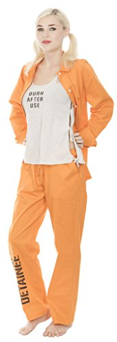 Suicide Squad Harley Quinn Bravo Detainee 3 piece Womans Costume Set (Medium)