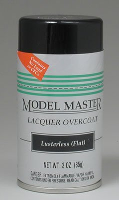 Lusterless Flat Lacquer Clear Coat Testors