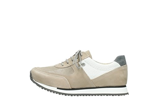 Sneakers Comodità Wolky E-sneaker 10391 Beige / Weiss Nubuk Stirata
