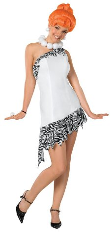 The Flintstones Wilma Costume,White,