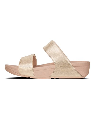 Fitflop Damen Shimmy Slide Sandalo-lamina Stampa Suede Plateausandalen Rosa (pelle Scamosciata Rosa)