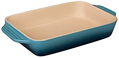 "Le Creuset Stoneware 22 oz. [7"" x 5""] Rectangular Dish - Marine"