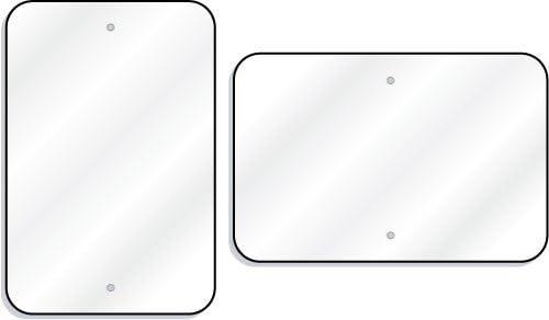 Cartel blanco - 12 x 18 aluminio reflectante: Amazon.es ...