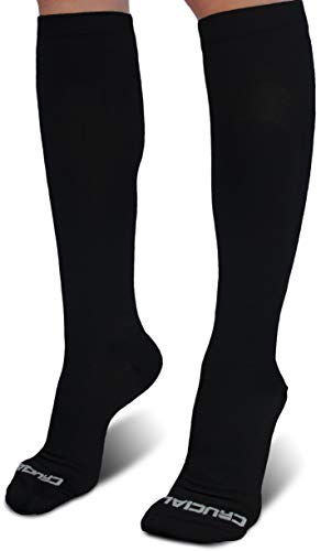 (Crucial Compression Socks for Men & Women (20-30mmHg) - Best Graduated Stockings for Running, Athletic, Travel, Pregnancy, Maternity, Nurses, Medical, Shin Splints, Support, Circulation & Recovery )