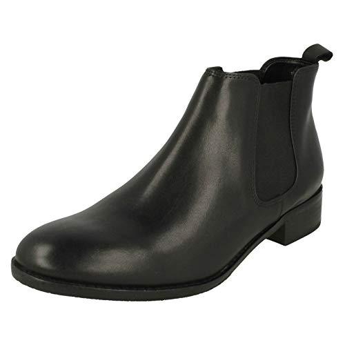 Clarks Netley Ella black Botines Femme Leather Noir wSq0ZCw