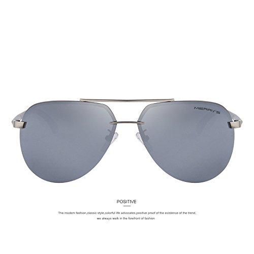 para Gold gafas aluminio a de Moda de Gafas de Caballeros sol la guiar 100 C05 Silver de C04 Marco aleación sol TIANLIANG04 polarizadas hombres de los gwyA6Hqa
