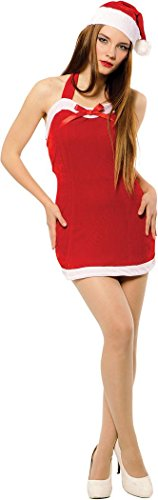 Ladies Xmas Fancy Party Mrs Claus Costume Outfit Christmas Sweetie Dress + Hat
