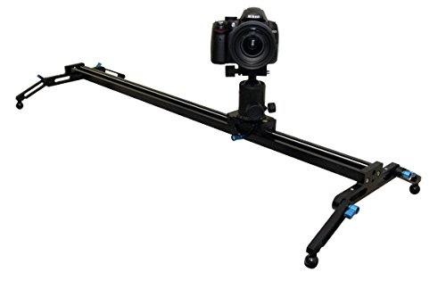 Opteka GLD-900 38'' Camera Track Slider Glider Video Stabilization System with TH40 Magnesium Ball Head by Opteka