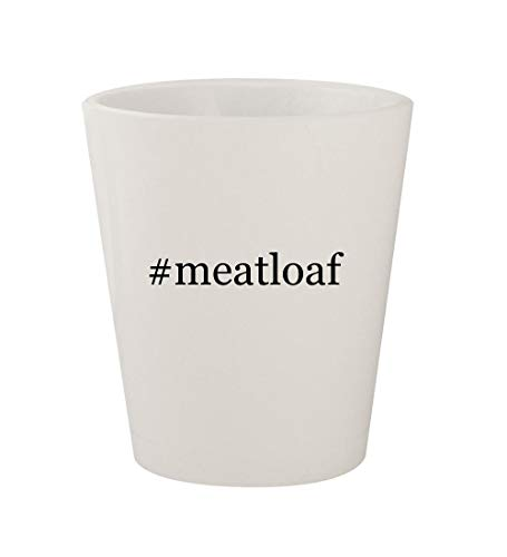 #meatloaf - Ceramic White Hashtag 1.5oz Shot Glass