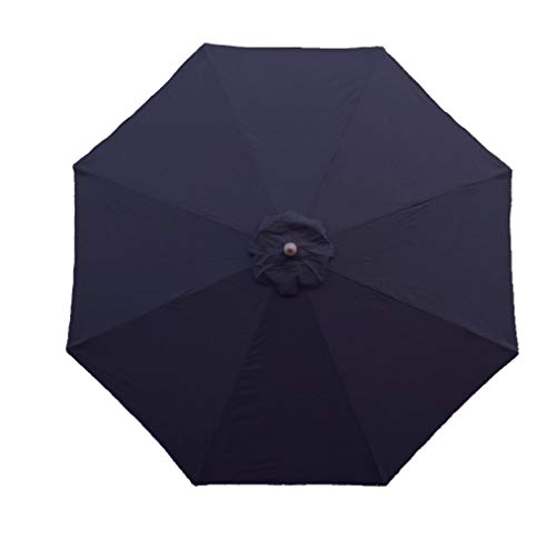 Formosa Covers 9ft Umbrella Replacement Canopy 8 Ribs in Dark Navy Olefin (Canopy Only)