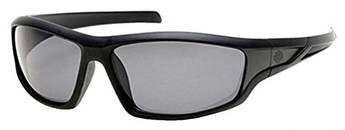 Harley-Davidson Official Designer Sunglasses HD0631S-01D in Matte-Black Frame with Polarized Grey - Harley Sunglasses