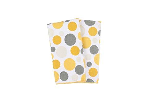 Ritz Royale Collection 100% Polyester Microfiber, Multi-Purpose, Polka Dot Print Kitchen Towel Set, 25