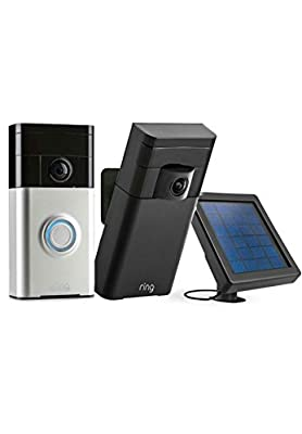 RING Smart Security Kit WiFi Night Vision Motion / solar panel / Ring doorbell